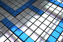 Tuiles abstraites en métal Image libre de droits