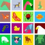 Tuiles animales illustration stock