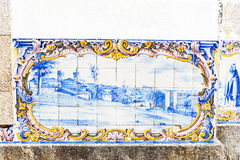 Tuiles (azulejos), Portugal Images libres de droits