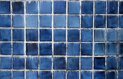 Tuiles bleues Image stock