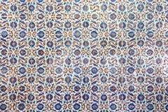 Tuiles bleues dans le palais de Topkapi Image stock