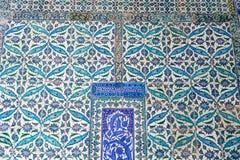 Tuiles bleues dans le palais de Topkapi Photos stock