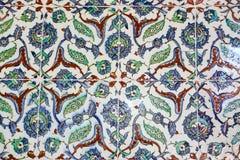Tuiles bleues dans le palais de Topkapi Images libres de droits