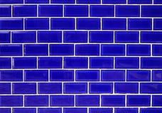 Tuiles bleues de mur. photographie stock libre de droits