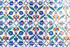 Tuiles bleues fabriquées à la main Photos stock