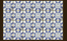 Tuiles bleues mexicaines Images stock