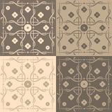Tuiles carrées beiges et brunes Images stock
