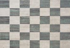 Tuiles carrées noires et grises Photos libres de droits