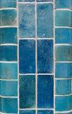 Tuiles cermaic bleues Photographie stock