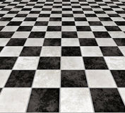 Tuiles checkered de marbre   Images stock