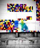 Tuiles colorées Photo stock