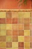 Tuiles colorées sur le mur de stuc Images libres de droits