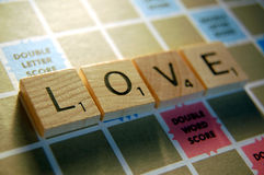 Tuiles d'amour Image stock