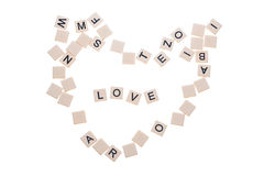 Tuiles d'amour Images stock