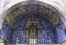 Tuiles d'Azulejo, Portugal Images stock