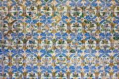 Tuiles d'Azulejos à l'arrière-plan Mudejar de type Photos stock