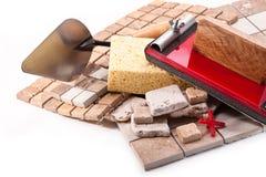 Tuiles dans la cuisine pour l'empâtage Image libre de droits