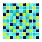 Tuiles de bleu, d'aqua et en verre vert Image stock