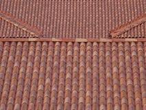 Tuiles de briques et de toit photographie stock