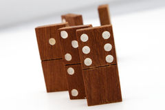 Tuiles de domino Photos libres de droits