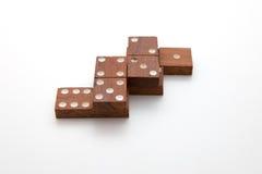 Tuiles de domino Photographie stock