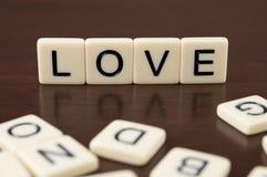 Tuiles de lettre d'amour Image stock