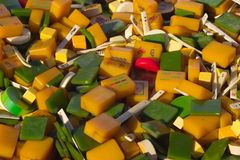 Tuiles de mahjong de cru Photographie stock libre de droits