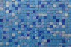 Tuiles de mosaïque bleues Photos stock