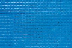 Tuiles de mosaïque bleues sur un mur Images stock