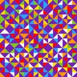 Tuiles de mosaïque d'arc-en-ciel, fond géométrique abstrait, modèle sans couture de vecteur Image stock