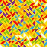 Tuiles de mosaïque d'arc-en-ciel, fond géométrique abstrait, modèle sans couture de vecteur Image libre de droits