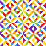 Tuiles de mosaïque d'arc-en-ciel, fond géométrique abstrait, modèle sans couture de vecteur Photographie stock