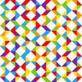 Tuiles de mosaïque d'arc-en-ciel, fond géométrique abstrait, modèle sans couture de vecteur Photos stock