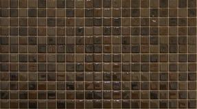 Tuiles de mosaïque de Brown Images libres de droits