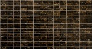 Tuiles de mosaïque de Brown Photos libres de droits