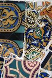 Tuiles de mosaïque de Gaudi - Barcelone, Espagne Image libre de droits