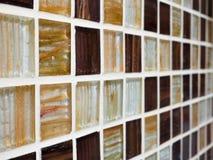 Tuiles de mosaïque de mur et de plancher, macro photo de plan rapproché sur la cuisine Images libres de droits
