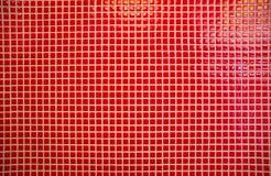 Tuiles de mosaïque rouges Image libre de droits