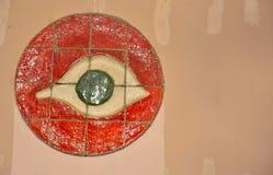 Tuiles de mosaïque, symbole d'un oeil Photographie stock libre de droits