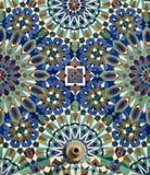 Tuiles de mur d'arabesque du Maroc Casablanca Photos libres de droits