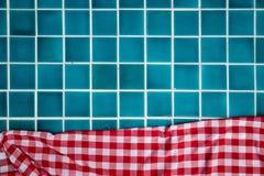 Tuiles de piscine avec le tissu Image libre de droits