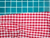 Tuiles de piscine avec le tissu Images libres de droits