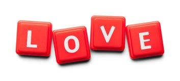 Tuiles de plastique d'amour Images libres de droits