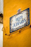 Tuiles de rue de Sintra Images stock
