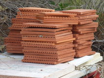 Tuiles de terre cuite Photos stock