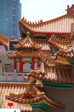 Tuiles de toit chinoises Photographie stock