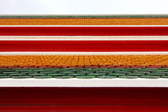 Tuiles de toit colorées Photo libre de droits