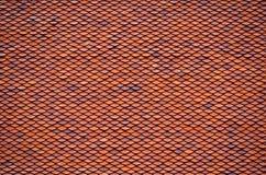 Tuiles de toit d'argile Image libre de droits