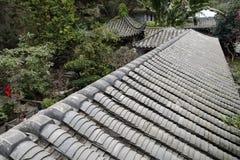 Tuiles de toit de bâtiment de jardin de la Chine Images libres de droits