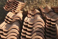 Tuiles de toit de construction Image stock